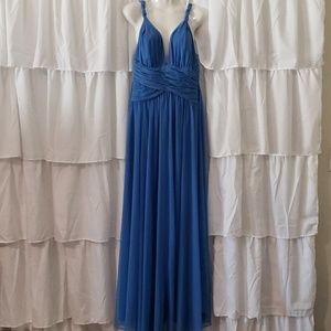 Calvin Klein Blue Lacey prom style evening gown